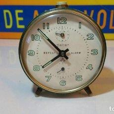 Despertadores antiguos: RELOJ DESPERTADOR PETER TRES ESTRELLAS GERMANY. Lote 89302840