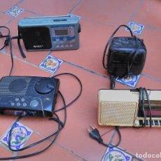 Despertadores antiguos: LOTE 4 RADIO DESPERTADORES - GRUNDIG - SABA - ORBIT - DIGI. Lote 89736332