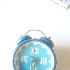 Despertadores antiguos: DESPERTADOR AÑOS 70 FUNCIONANDO A CUERDA.-FABRICACION ESPAÑOLA. Lote 89856816