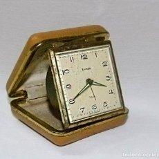 Despertadores antiguos: DESPERTADOR DE VIAJE, EUROPA,ALEMÁN. Lote 90143092