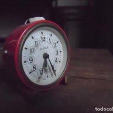Despertadores antiguos: RELOJ DESPERTADOR KIPLE ROJO. Lote 93306120