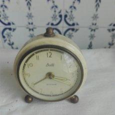 Despertadores antiguos: ANTIGUO RELOJ DESPERTADOR MARCA DELLE. Lote 93353327