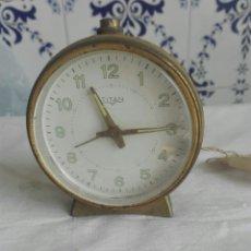 Despertadores antiguos: RELOJ DESPERTADOR MARCA TITAN. Lote 93463805