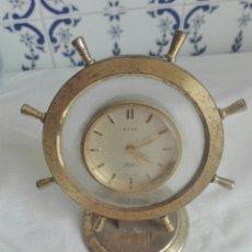 Despertadores antiguos: RELOJ DESPERTADOR EN FORMA DE TIMON MARCA HALCON . Lote 93468302