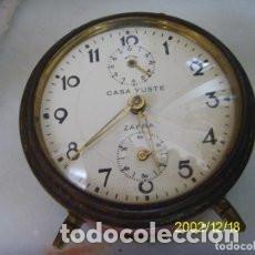 Despertadores antiguos: RELOJ DESPERTADOR CASA JUSTE-ZAFRA. Lote 93653770