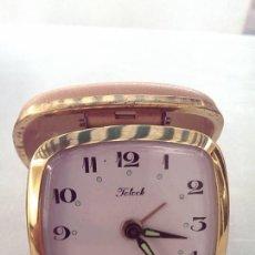 Despertadores antiguos: RELOJ DESPERTADOR DE VIAJE TELOCK JAPON BUENA CALIDAD COLECCION. Lote 94009290