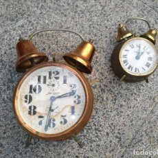 Despertadores antiguos: DOS ANTIGUOS DESPERTADORES ALEMANES. Lote 95787531