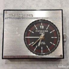 Despertadores antiguos: RELOJ DESPERTADOR DE VIAJE SADES. Lote 96579371