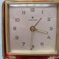 Despertadores antiguos: RELOJ DE VIAJE JUNGHANS CON CAJA. FUNCIONANDO. Lote 96966415