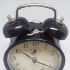 Despertadores antiguos: RELOJ DESPERTADOR CUERDA FUNCIONA PERFECTAMENTE. Lote 97559199