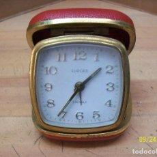 Despertadores antiguos: RELOJ DE VIAJE-EUROPA-ALEMANIA-AÑOS 1960-FUNCIONA. Lote 98687123