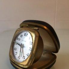 Despertadores antiguos: ANTIGUO RELOJ DESPERTADOR DE VIAJE AÑOS 50 - GERMANY. Lote 100445704
