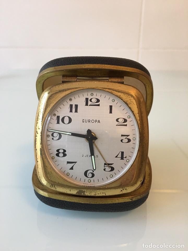 Despertadores antiguos: ANTIGUO RELOJ DESPERTADOR DE VIAJE AÑOS 50 - GERMANY - Foto 5 - 100445704