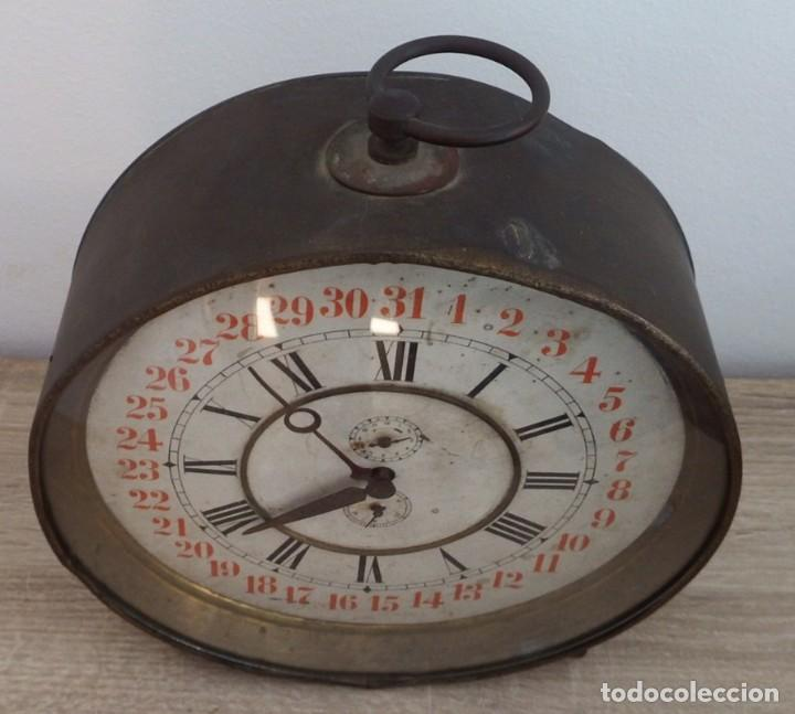 Despertadores antiguos: ANTIGUO RELOJ DESPERTADOR CARGA MANUAL AÑOS 1900 - Foto 2 - 102467507