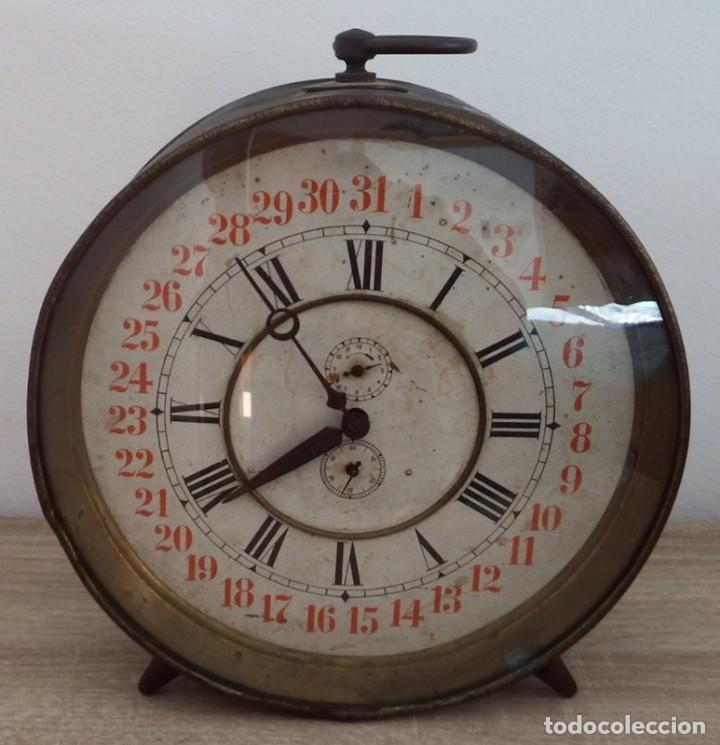 Despertadores antiguos: ANTIGUO RELOJ DESPERTADOR CARGA MANUAL AÑOS 1900 - Foto 3 - 102467507