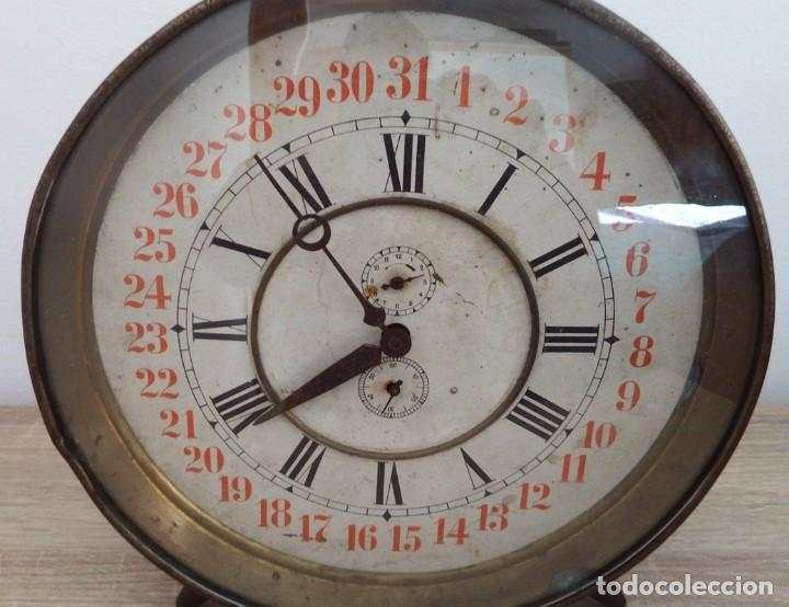 Despertadores antiguos: ANTIGUO RELOJ DESPERTADOR CARGA MANUAL AÑOS 1900 - Foto 4 - 102467507