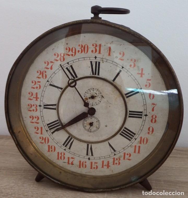 Despertadores antiguos: ANTIGUO RELOJ DESPERTADOR CARGA MANUAL AÑOS 1900 - Foto 6 - 102467507