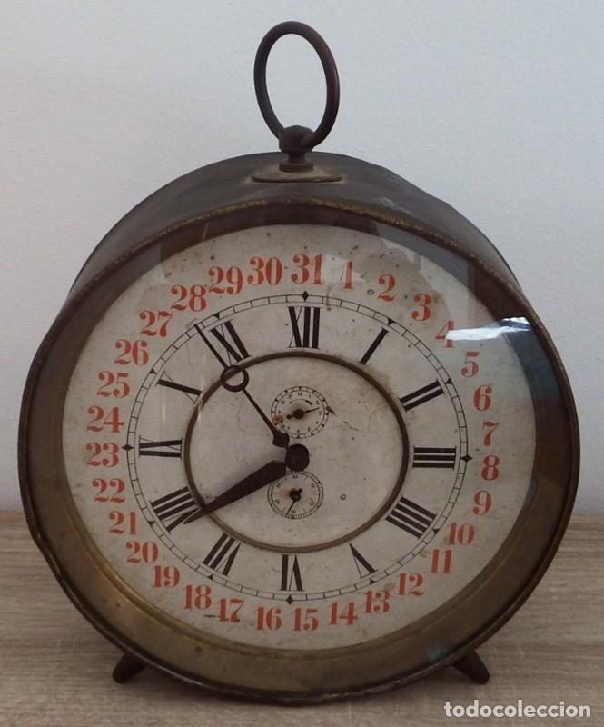 Despertadores antiguos: ANTIGUO RELOJ DESPERTADOR CARGA MANUAL AÑOS 1900 - Foto 7 - 102467507