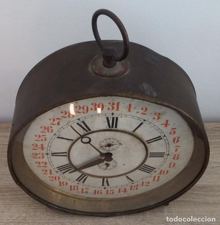 Despertadores antiguos: ANTIGUO RELOJ DESPERTADOR CARGA MANUAL AÑOS 1900 - Foto 8 - 102467507