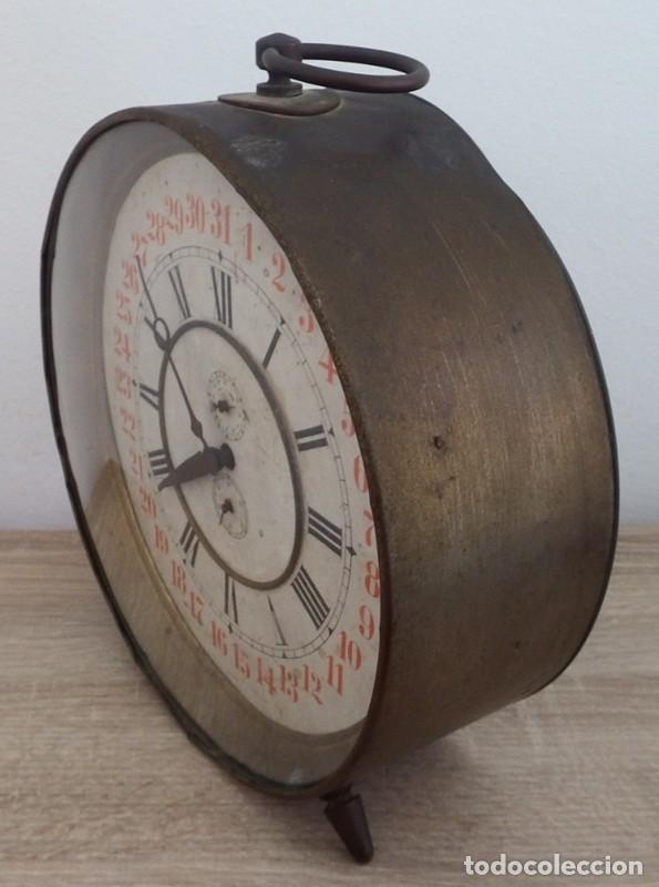 Despertadores antiguos: ANTIGUO RELOJ DESPERTADOR CARGA MANUAL AÑOS 1900 - Foto 9 - 102467507