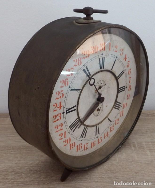 Despertadores antiguos: ANTIGUO RELOJ DESPERTADOR CARGA MANUAL AÑOS 1900 - Foto 10 - 102467507