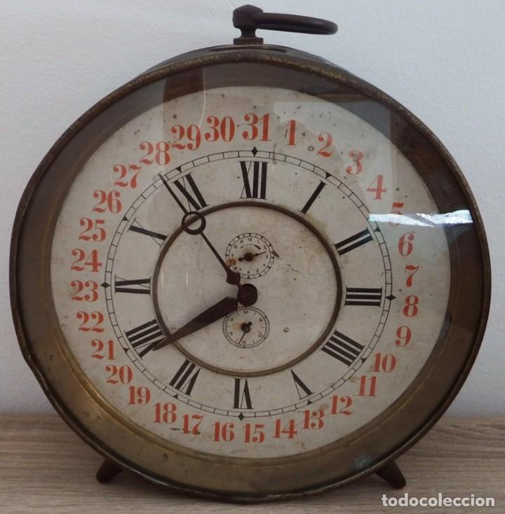 Despertadores antiguos: ANTIGUO RELOJ DESPERTADOR CARGA MANUAL AÑOS 1900 - Foto 11 - 102467507
