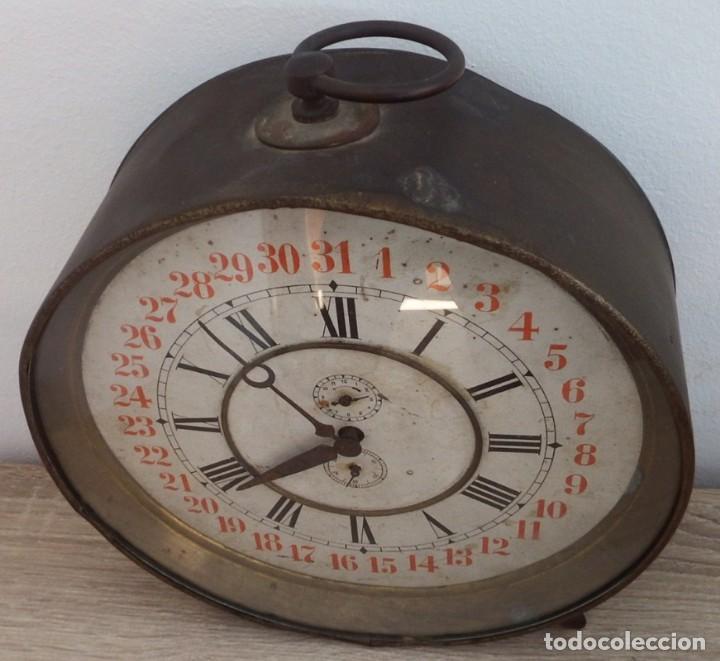 Despertadores antiguos: ANTIGUO RELOJ DESPERTADOR CARGA MANUAL AÑOS 1900 - Foto 12 - 102467507