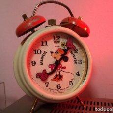 Despertadores antiguos: RELOJ BRADLEY DISNEY MINNIE MOUSE ALEMÁN CUERDA 70 FUNCIONAMIENTO PERFECTO. Lote 103236579
