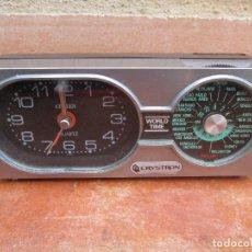 Despertadores antiguos: BONITO DESPERTADOR CITIZEN CRYSTRON, FUNCIONANDO.. Lote 103416911