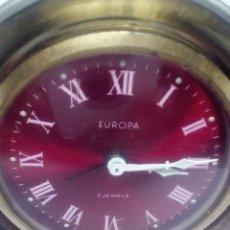 Despertadores antiguos: RELOJ DESPERTADOR EUROPA FUNCIONANDO 2 RUBIS. Lote 103579903