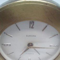 Despertadores antiguos: ANTIGUO RELOJ DESPERTADOR EUROPA FUNCIONANDO METAL 7 RUBÍS 9 CM DIÁMETRO. Lote 103665835