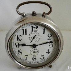 Despertadores antiguos: RELOJ DESPERTADOR JAZ, NO FUNCIONA, DIAMETRO 12,5 CM . Lote 103873851
