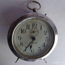 Despertadores antiguos: MUY ANTIGUO (PRINCIPIOS 1900), BONITO Y ENORME DESPERTADOR A CUERDAS DE REPETICION, FUNCIONANDO Y C. Lote 104250599