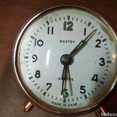 Despertadores antiguos - Reloj despertador marca Rostov. Funcionando. - 104993915