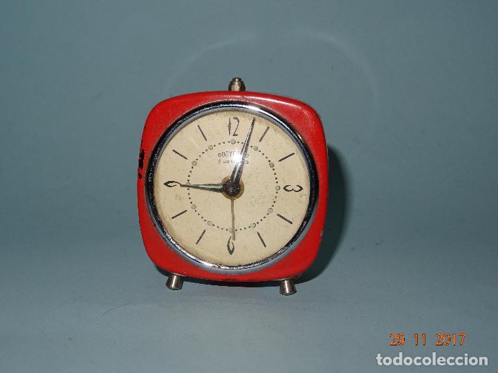 ANTIGUO RELOJ DESPERTADOR OBAYARDO 2 JEWELLS (Relojes - Relojes Despertadores)