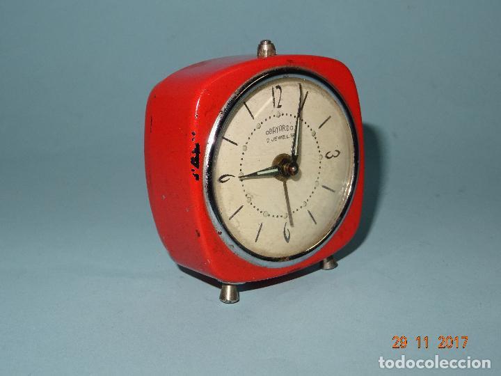 Despertadores antiguos: Antiguo Reloj Despertador OBAYARDO 2 Jewells - Foto 4 - 105315247