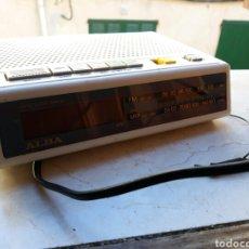Despertadores antiguos: RELOJ RADIO DESPERTADOR ALBA. Lote 106651680