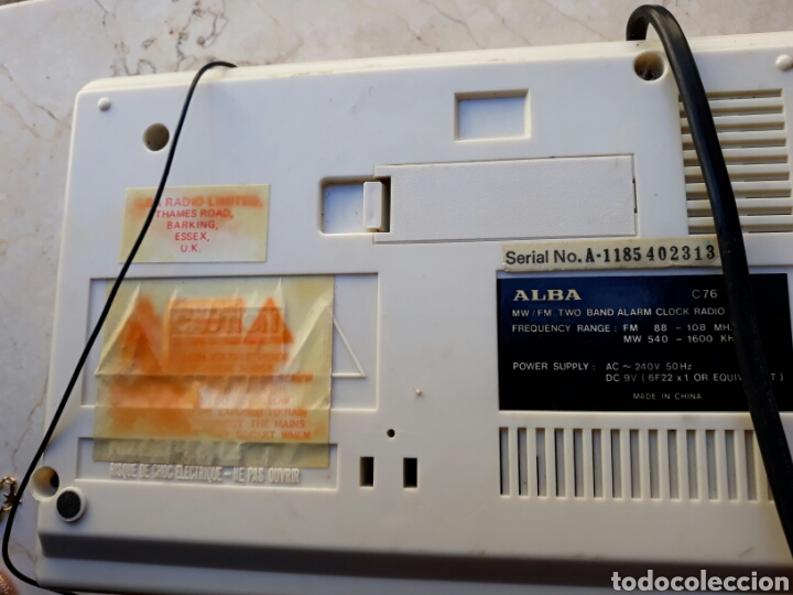 Despertadores antiguos: Reloj Radio despertador Alba - Foto 4 - 106651680