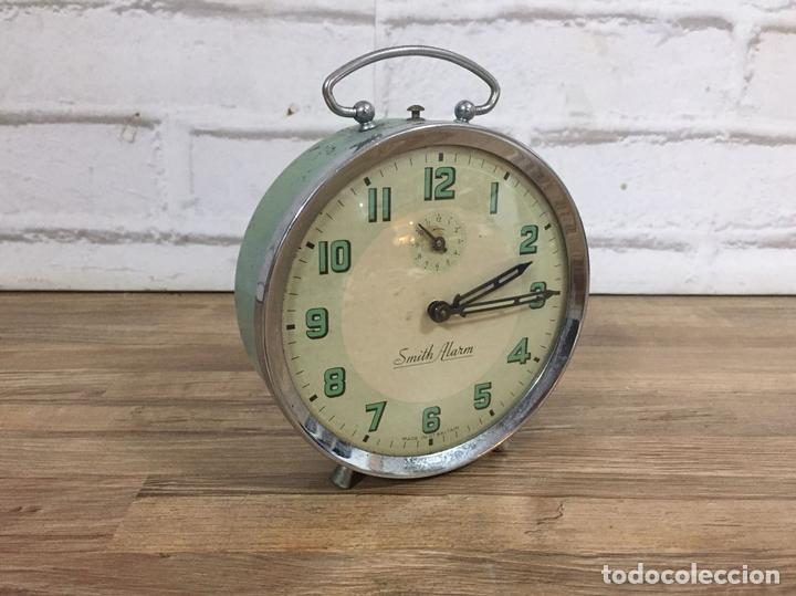 RELOJ DESPERTADOR SMITH ALARM GRAN BRETAÑA AÑOS 60 Nº DE SERIE 549 12 CM (Relojes - Relojes Despertadores)