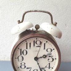 Despertadores antiguos: DESPERTADOR KIPLE, CHECOSLOVAQUIA AÑOS 70 APROX, FUNCIONANDO 11,16CM APROX. Lote 107301647