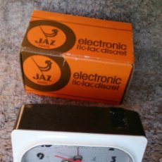 Despertadores antiguos: RELOJ DESPERTADOR VINTAGE JAZ ELECTRONIC TIC-TAC DISCRET PARÍS. Lote 107320491