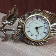Despertadores antiguos: RELOJ DESPERTADOR DE BRONCE AÑOS 50 EQUITY.. Lote 109573051