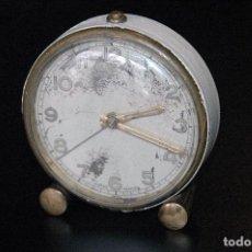 Despertadores antiguos: RELOJ DESPERTADOR ANTIGUO MARCA CYMA. Lote 110052107