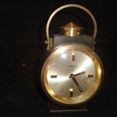 Despertadores antiguos: RELOJ DESPERTADOR SWIZA 8 CARGA MANUAL FUNCIONA CORRECTAMENTE. Lote 110365315