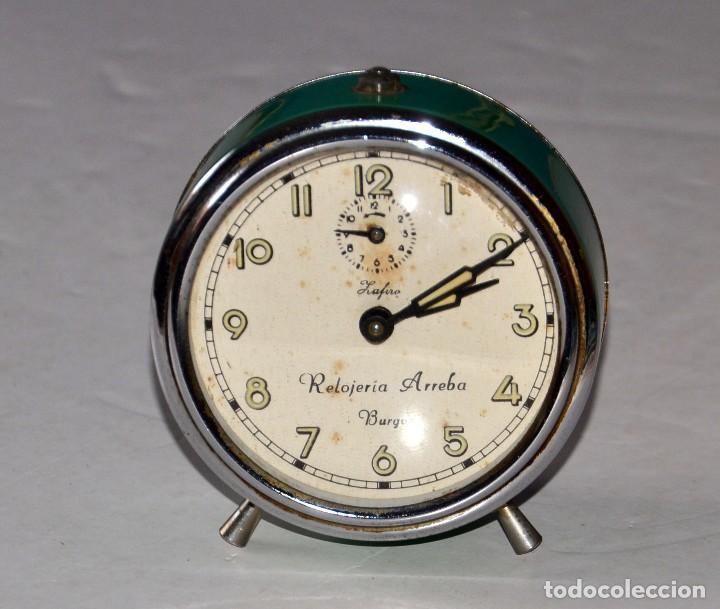 ANTIGUO RELOJ DESPERTADOR: RELOJERÍA ARREBA BURGOS (Relojes - Relojes Despertadores)