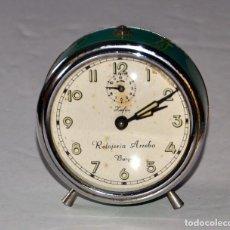 Despertadores antiguos: ANTIGUO RELOJ DESPERTADOR: RELOJERÍA ARREBA BURGOS. Lote 110406723