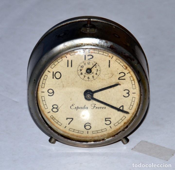 ANTIGUO RELOJ DESPERTADOR : ESPADA FRERES (Relojes - Relojes Despertadores)