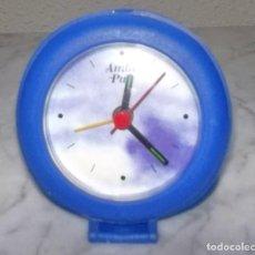 Despertadores antiguos: RELOJ DESPERTADOR AMBIPUR-VINTAGE-AÑOS 80-90. Lote 110475427