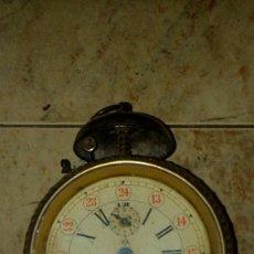 Despertadores antiguos: RELOJ DESPERTADOR FINALES SIGLO XIX MARCA M&CB EN FUNCIONAMIENTO. Lote 112207919