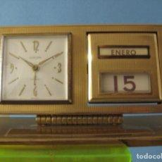 Despertadores antiguos: RELOJ DESPERTADOR ALEMAN EUROPA 8 DIAS CUERDA. Lote 112685399